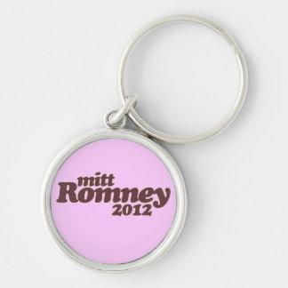 Mitt Romney 2012 Llavero Redondo Plateado