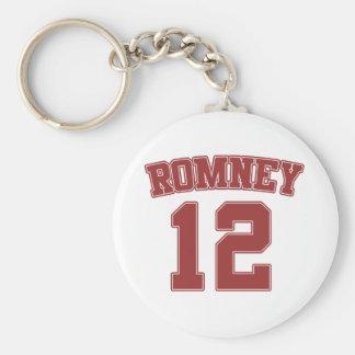 Mitt Romney 2012 Llavero Redondo Tipo Pin