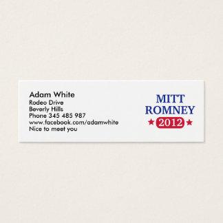 Mitt Romney 2012 Mini Business Card