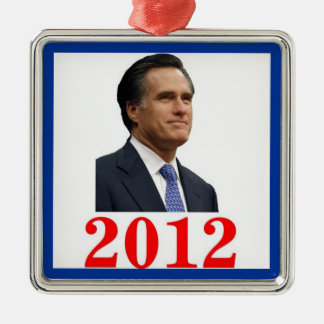 Mitt Romney 2012 Ornament Silver-Colored Square Ornament