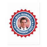Mitt Romney 2012 para el presidente de los Tarjetas Postales