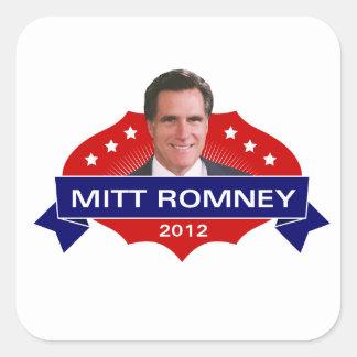 Mitt Romney 2012 para el presidente Pegatina Cuadrada