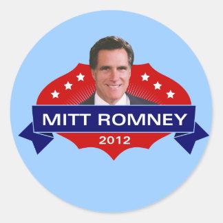 Mitt Romney 2012 para el presidente Pegatina Redonda