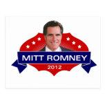 Mitt Romney 2012 para el presidente Tarjeta Postal