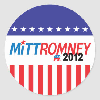 Mitt Romney 2012 Pegatina Redonda