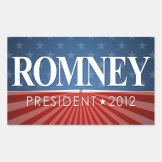 Mitt Romney 2012 Rectangular Pegatina