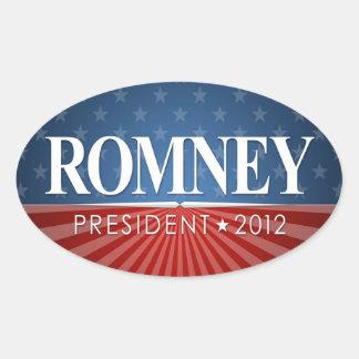 Mitt Romney 2012 Pegatina Ovalada