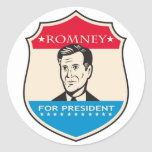 Mitt Romney 2012 Pegatinas Redondas