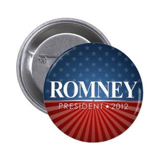 Mitt Romney 2012 Pin Redondo De 2 Pulgadas