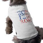 Mitt Romney 2012 Playera Sin Mangas Para Perro