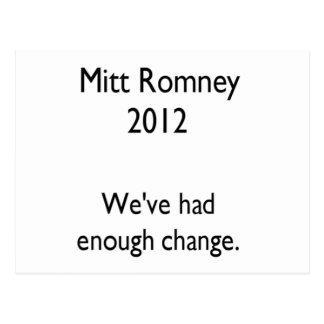 mitt romney 2012 postcard