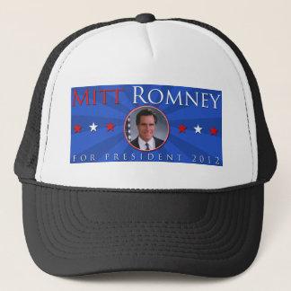 Mitt Romney 2012 Red White and Blue Trucker Hat