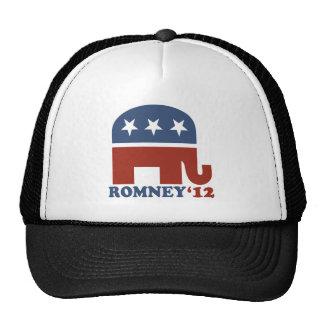 Mitt Romney 2012 Republican Elephant Trucker Hats