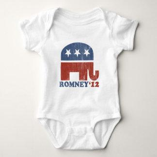 Mitt Romney 2012 Republican Elephant (Vintage) Baby Bodysuit