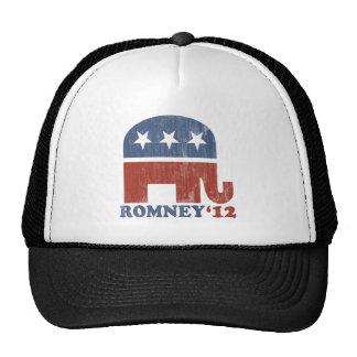 Mitt Romney 2012 Republican Elephant Vintage Trucker Hat