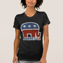 Mitt Romney 2012 Republican Elephant (Vintage) T-Shirt