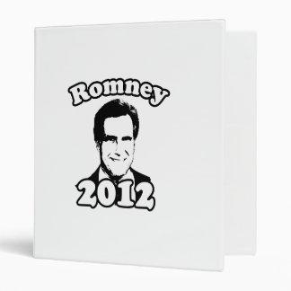 Mitt Romney 2012 Retro 3 Ring Binders