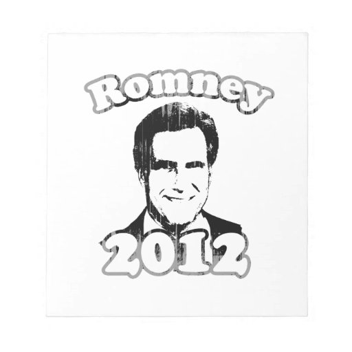 Mitt Romney 2012 retro Libreta Para Notas