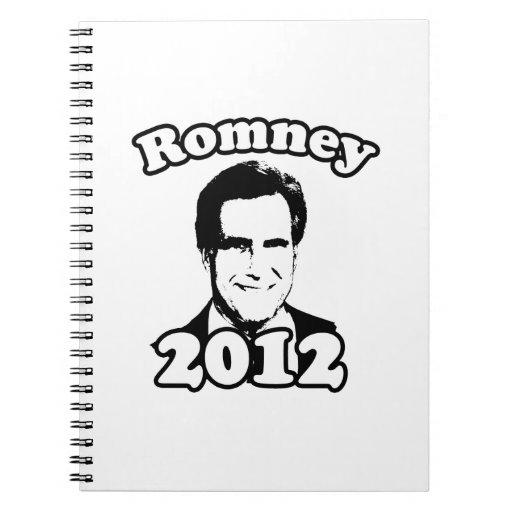 Mitt Romney 2012 Retro Note Book