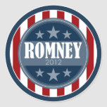 Mitt Romney 2012 - retro stars and stripes Classic Round Sticker