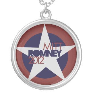 Mitt Romney 2012 Round Pendant Necklace