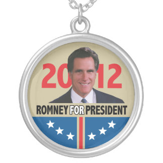 Mitt Romney 2012 Silver Plated Necklace