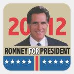 Mitt Romney 2012 Square Sticker