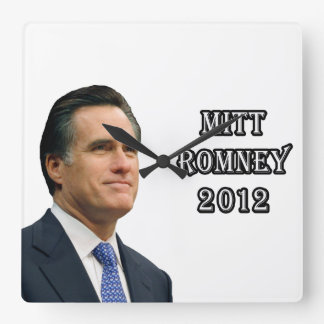 Mitt Romney 2012 Square Wall Clock