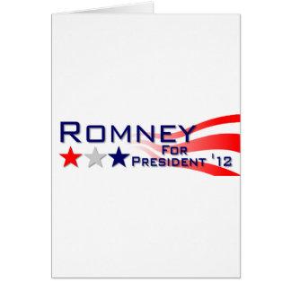 Mitt Romney 2012 Stars and Stripes Greeting Card