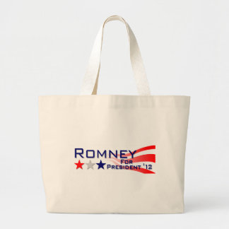 Mitt Romney 2012 Stars and Stripes Large Tote Bag