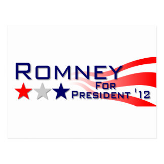 Mitt Romney 2012 Stars and Stripes Post Card