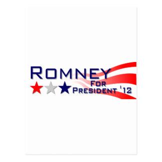 Mitt Romney 2012 Stars and Stripes Postcard