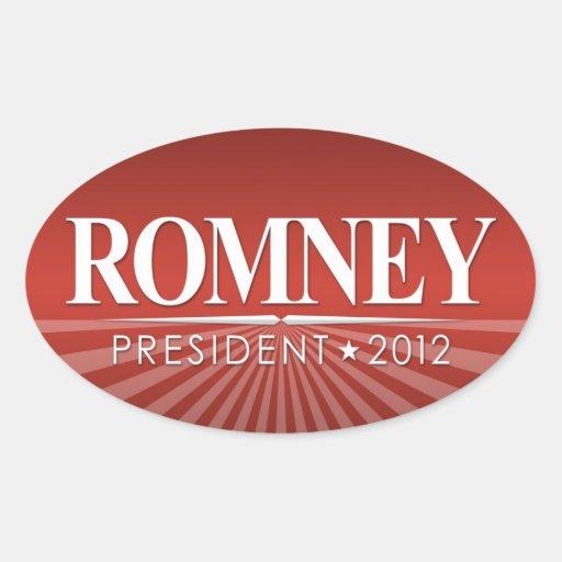 Mitt Romney 2012 Oval Sticker