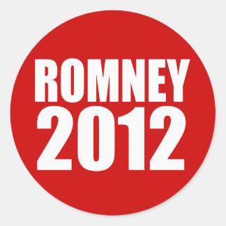 MITT ROMNEY 2012 ROUND STICKER