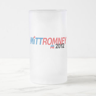 Mitt Romney 2012 Taza Cristal Mate