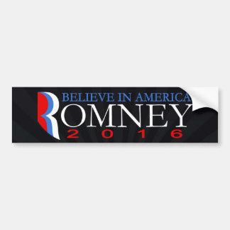 Mitt Romney 2016 Conservative Republican Political Car Bumper Sticker