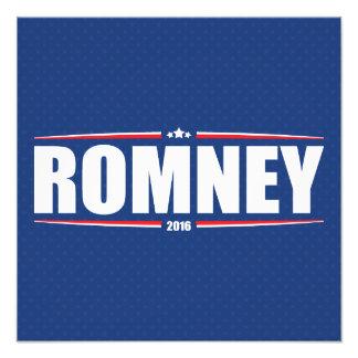 Mitt Romney 2016 estrellas y rayas - azul Cojinete