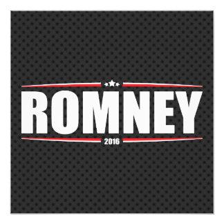 Mitt Romney 2016 (estrellas y rayas - negro) Impresiones Fotográficas