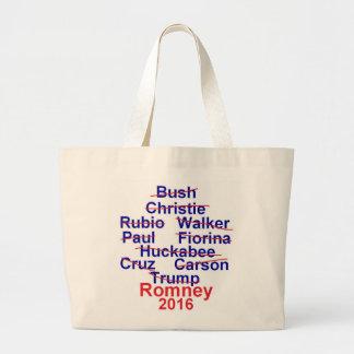 Mitt ROMNEY 2016 Large Tote Bag