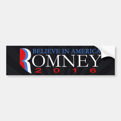 Mitt Romney 2016 políticos republicanos conservado Etiqueta De Parachoque