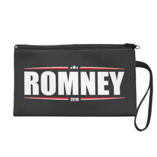 Mitt Romney 2016 (Stars & Stripes - Black) Wristlet