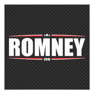 Mitt Romney 2016 (Stars & Stripes - Black) Photographic Print