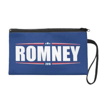Mitt Romney 2016 (Stars & Stripes - Blue) Wristlet Clutch