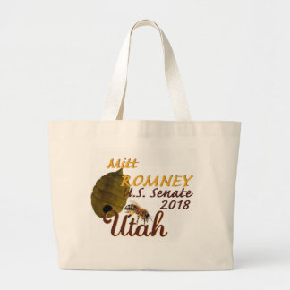 Mitt ROMNEY 2018 Senate Large Tote Bag