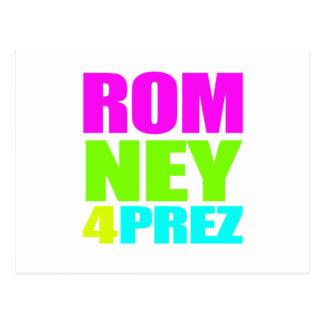 MITT ROMNEY 4 PREZ png Postcard