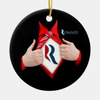Mitt Romney a Superhero Ceramic Ornament