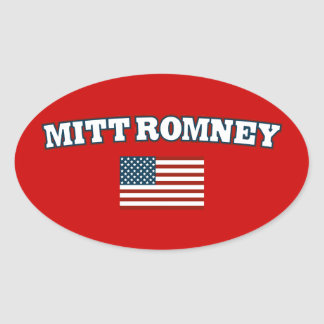 Mitt Romney America Oval Sticker