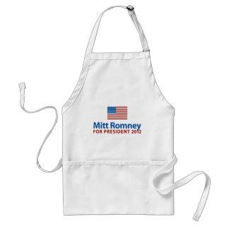 Mitt Romney American Flag Adult Apron