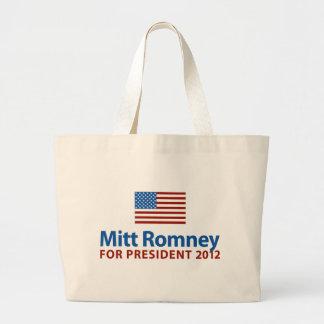 Mitt Romney American Flag Canvas Bag