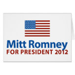 Mitt Romney American Flag Greeting Card